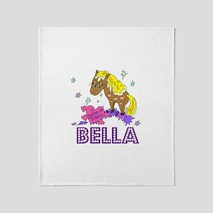 I Dream of Ponies Bella Throw Blanket