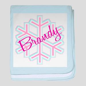 Brandy Snowflake Personalized baby blanket