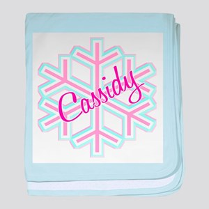 Cassidy Snowflake Personalize baby blanket