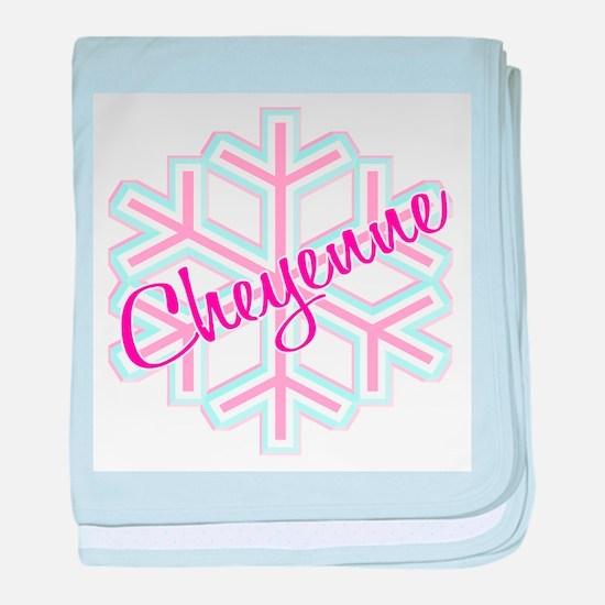 Cheyenne Snowflake Personaliz baby blanket