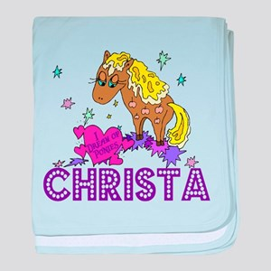 I Dream Of Ponies Christa baby blanket