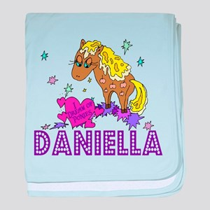 I Dream Of Ponies Daniella baby blanket