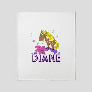 I Dream Of Ponies Diane Throw Blanket