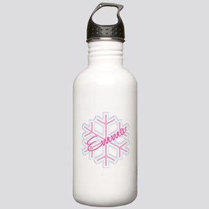Emma Snowflake Personalized Stainless Water Bottle