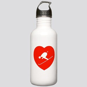 Love Skiing Heart Stainless Water Bottle 1.0L