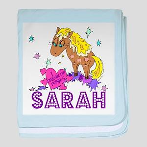 I Dream Of Ponies Sarah baby blanket
