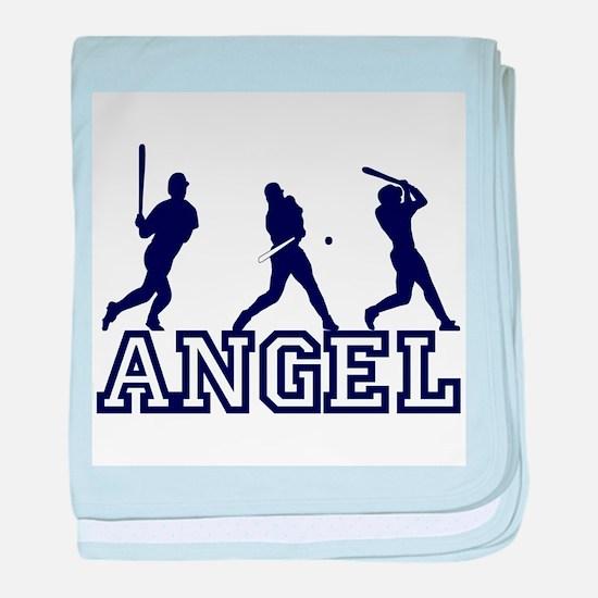 Baseball Angel Personalized baby blanket