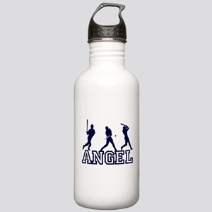 Baseball Angel Personalized Stainless Water Bottle