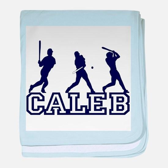 Baseball Caleb Personalized baby blanket