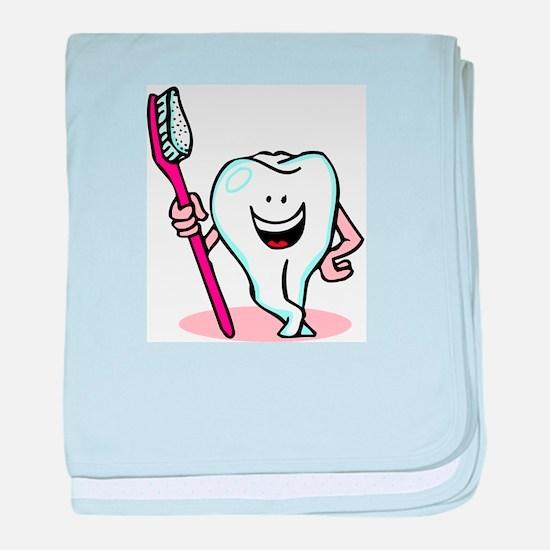 Happy Tooth & Brush baby blanket