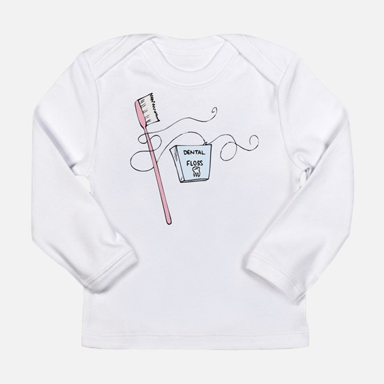 Brush And Floss Dentist Long Sleeve Infant T-Shirt