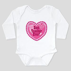 Voted Best Teacher EVER Long Sleeve Infant Bodysui