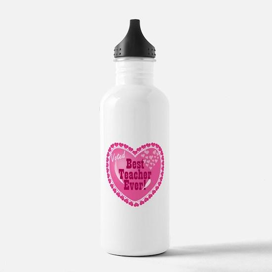 Voted Best Teacher EVER Sports Water Bottle