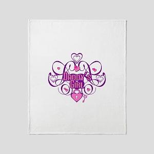 Daddy's Girl Pink/Fuschia Throw Blanket