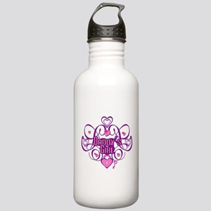 Daddy's Girl Pink/Fuschia Stainless Water Bottle 1