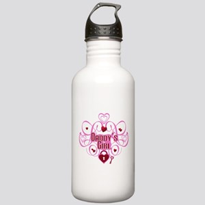 Daddy's Girl Pink/Red Stainless Water Bottle 1.0L