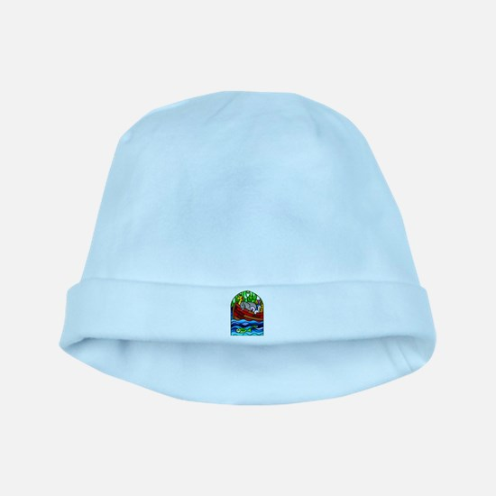 Noah's Ark Stained Glass baby hat