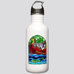 Noah's Ark Stained Glass Stainless Water Bottle 1.