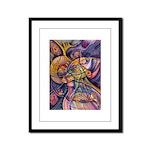 Huichol Eagle Framed Panel Print