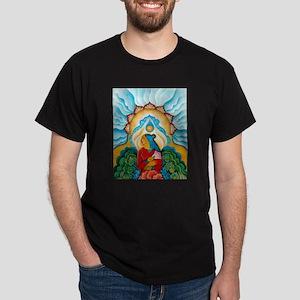 Blue Flower Dark T-Shirt