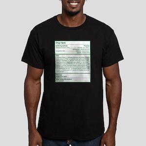 THC Drug Facts Men's Fitted T-Shirt (dark)