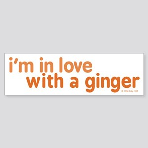 I'm in Love with a Ginger Sticker (Bumper)