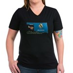 ILY Oklahoma Women's V-Neck Dark T-Shirt