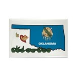 ILY Oklahoma Rectangle Magnet (100 pack)