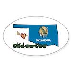 ILY Oklahoma Sticker (Oval 10 pk)