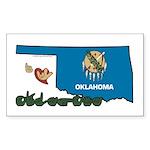 ILY Oklahoma Sticker (Rectangle 10 pk)
