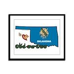 ILY Oklahoma Framed Panel Print