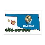 ILY Oklahoma Mini Poster Print