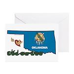 ILY Oklahoma Greeting Cards (Pk of 20)