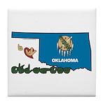 ILY Oklahoma Tile Coaster