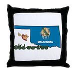 ILY Oklahoma Throw Pillow