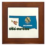 ILY Oklahoma Framed Tile