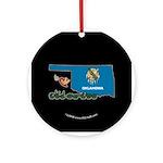 ILY Oklahoma Ornament (Round)