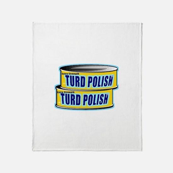 Turd Polish Throw Blanket