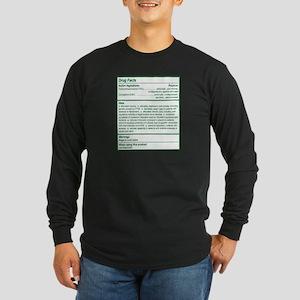 THC Drug Facts Long Sleeve Dark T-Shirt