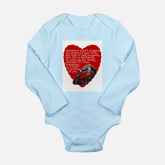 Stalker Anti-Valentine Long Sleeve Infant Bodysuit