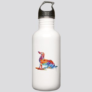Whimsical Dachshund Fun Stainless Water Bottle 1.0