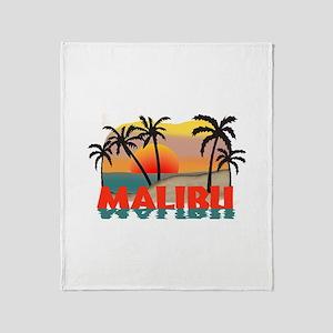 Malibu California Souvenir Throw Blanket