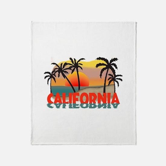 California Sunset Souvenir Throw Blanket