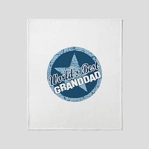 Worlds Best Granddad Throw Blanket