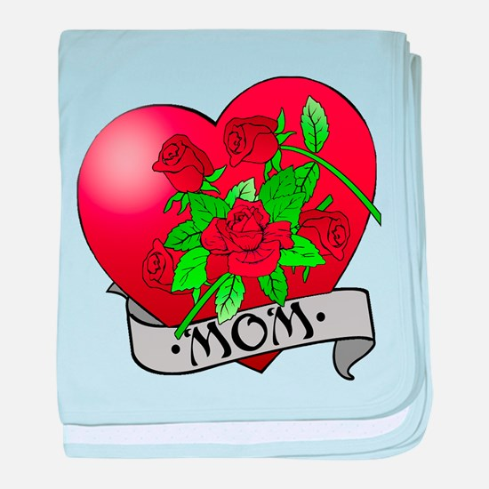 Mom Tattoo Mothers Day baby blanket