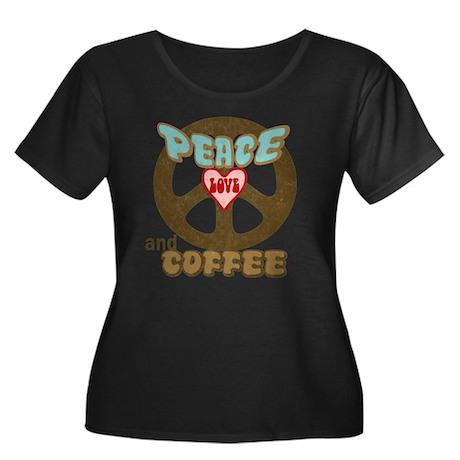 EVERYONE LOVES COFFEE! Women's Plus Size Scoop Nec