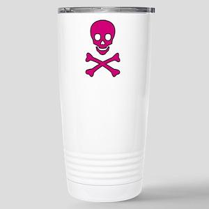 Pink Skull Stainless Steel Travel Mug