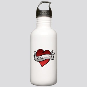 Channing Tattoo Heart Stainless Water Bottle 1.0L