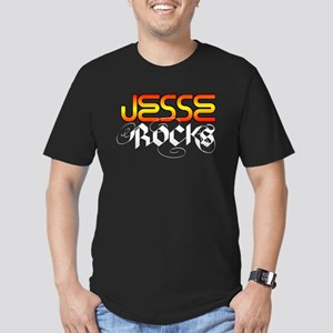 Jesse Rocks Men's Fitted T-Shirt (dark)