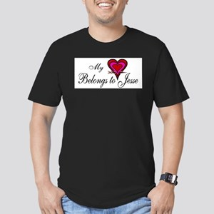 My Heart Belongs to Jesse Men's Fitted T-Shirt (da